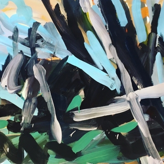 Untitled, acrylic on paper, 68.5cm x 101.5cm, 2017