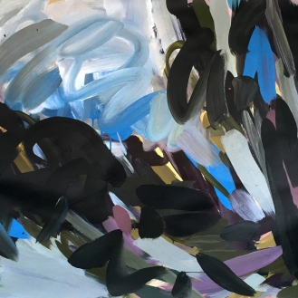 Untitled, acrylic on paper, 100cm x 140cm, 2017