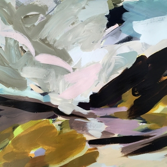 Norfolk, acrylic on paper, 45 x 64 cm, 2017