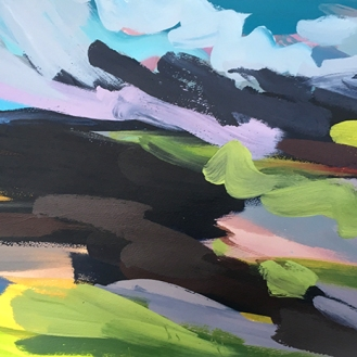 Broads 4, acrylic on paper, 45 x 64 cm, 2017
