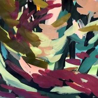 Untitled, acrylic on paper, 98cm x 138cm, 2017.