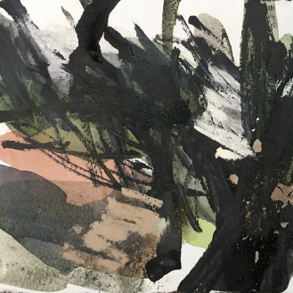 Woods sketch - watercolour, ink and pastel, 2017.