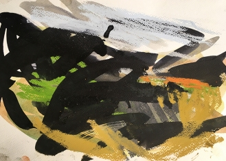 Bodmin Moor - Cornwall, pastel and ink on paper, 2017.