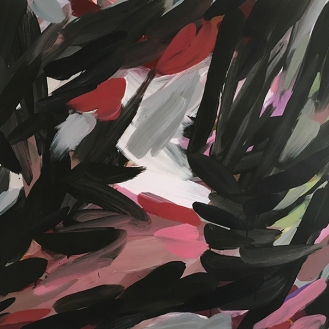 Untitled, acrylic on paper, 98 x 138cm, 2017.