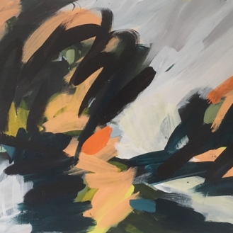 Landscape - work in progress, acrylic on canvas, 2019.