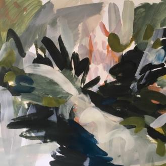 Landscape study, acrylic on paper, 98 x 138cm, 2018.